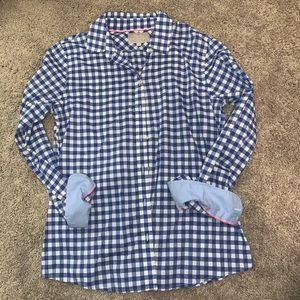 Banana Republic Blue Gingham Shirt
